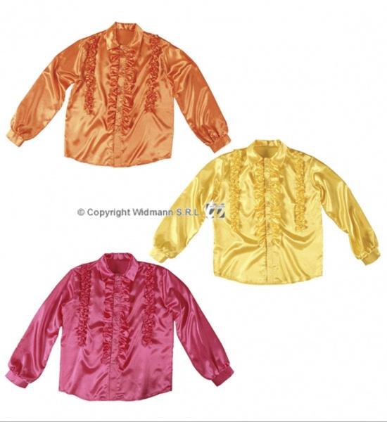 6ec874b8f2a Pánská košile retro saténová vel. XL Žlutá