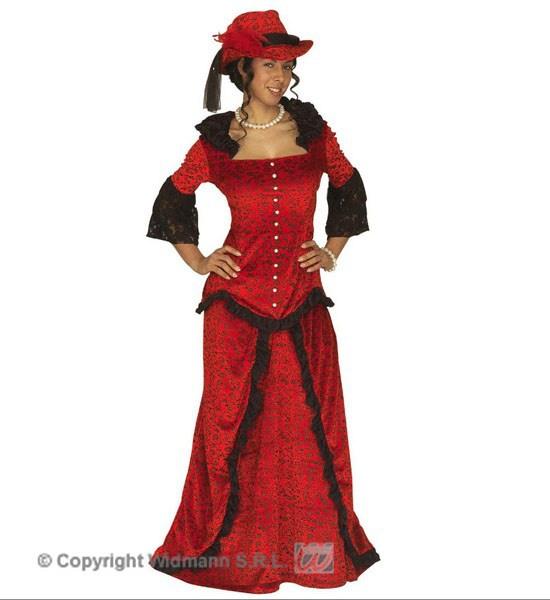 9bf7d9fd5a0 Dámský kostým Western Lady s kloboukem Deluxe velikost XL (1)