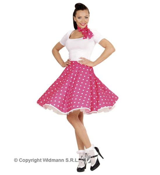 2ed7ca3e5889 Retro sukně růžová s puntíky se šátkem Pomáda uni (1) ...