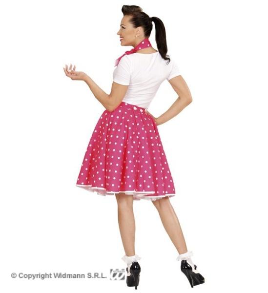 8a823511c1c3 ... Retro sukně růžová s puntíky se šátkem Pomáda uni (3)