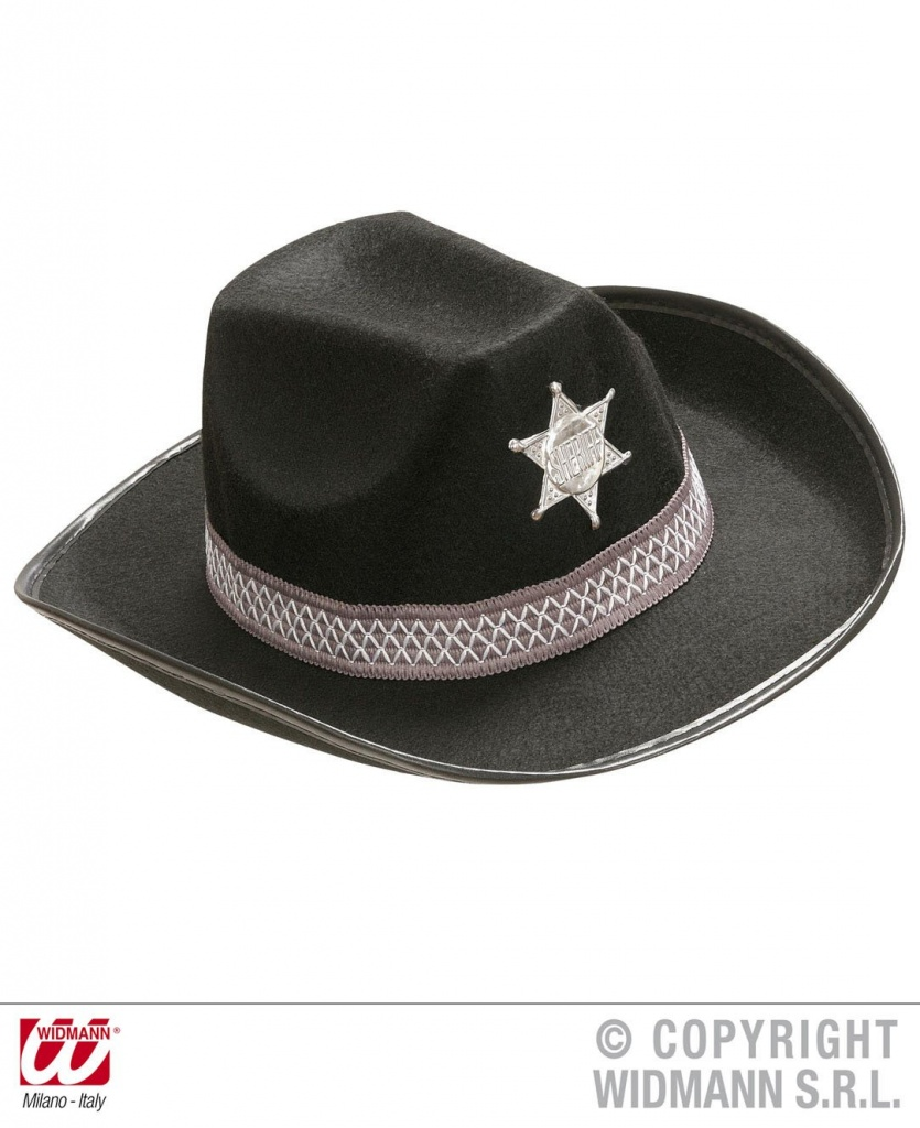 Dětský klobouk kovbojský Sheriff černý s hvězdou (2) a7c8a3d9d1