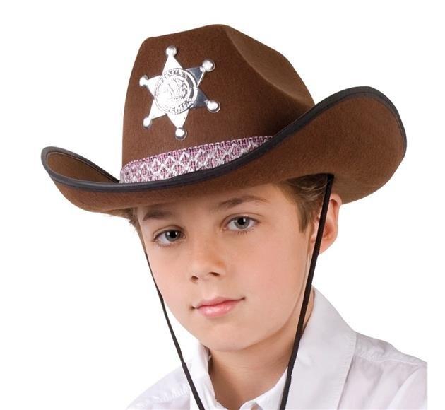 Klobouk kovbojský Sheriff hnědý s hvězdou (2) ... 9fce177c9a