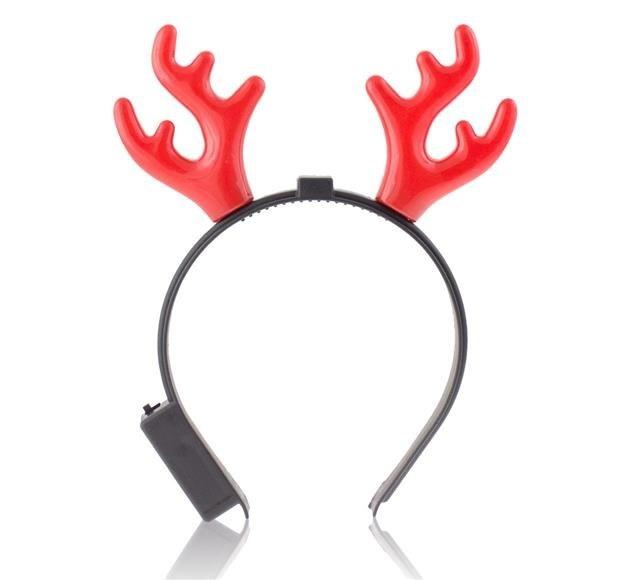f97b47939 Parohy vánoční SOB blikající čelenka. Karnevalové doplňky a dekorace · Rohy  blikající
