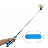 Selfie Bluetooth tyč stativ 90cm pro Android a iOS (1)